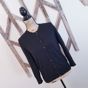 J. Crew Sweaters - J. Crew Black Cotton Blend Cardigan